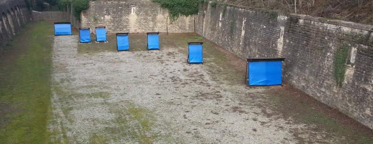 Pas de tir extérieur au Fort de Bron.